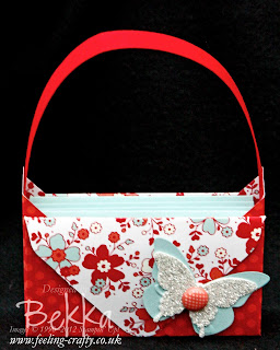 My Little Valentine Basket of Cards by Stampin' Up! Demonstrator Bekka Prideaux