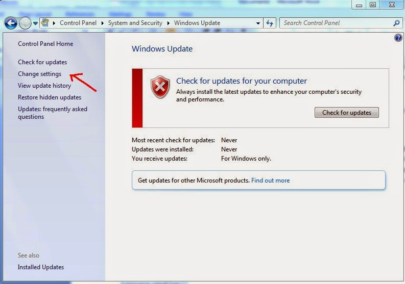 Cara Menonaktifkan Windows 7 Update-c