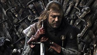 Eddard Satark en el trono de hierro