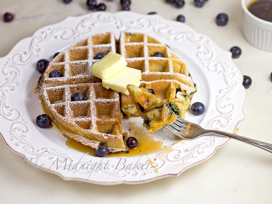 The Midnight Baker: Sour Cream & Greek Yogurt Blueberry ...