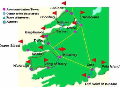 Southwest Ireland Map Picture