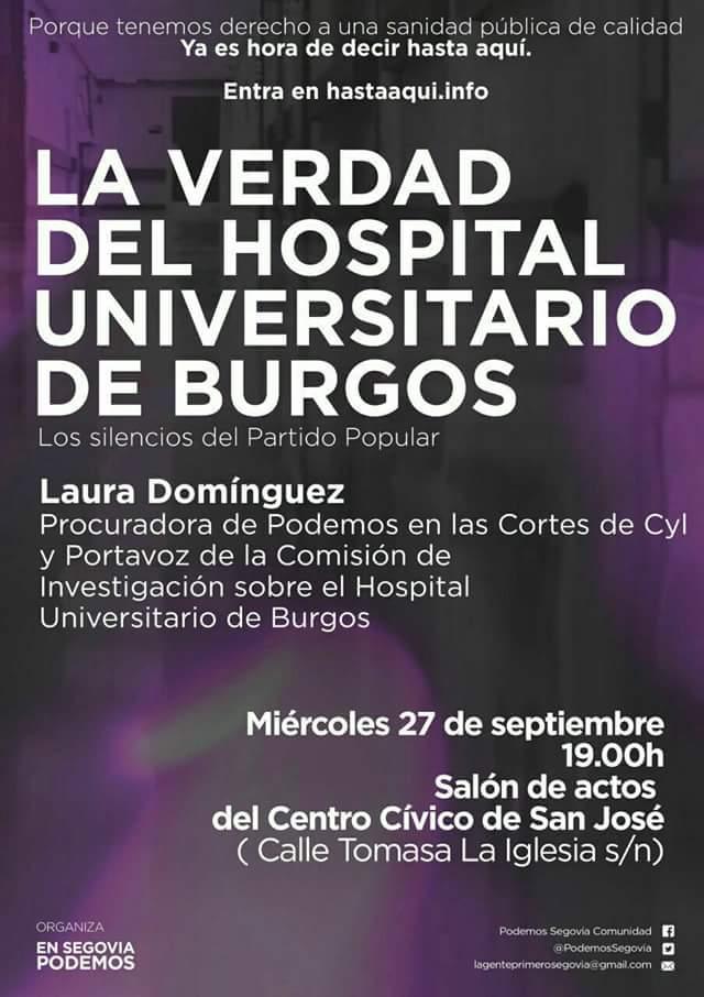 La verdad del hospital Universitario de Burgos