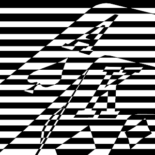 blackjack hand psychedelic pattern