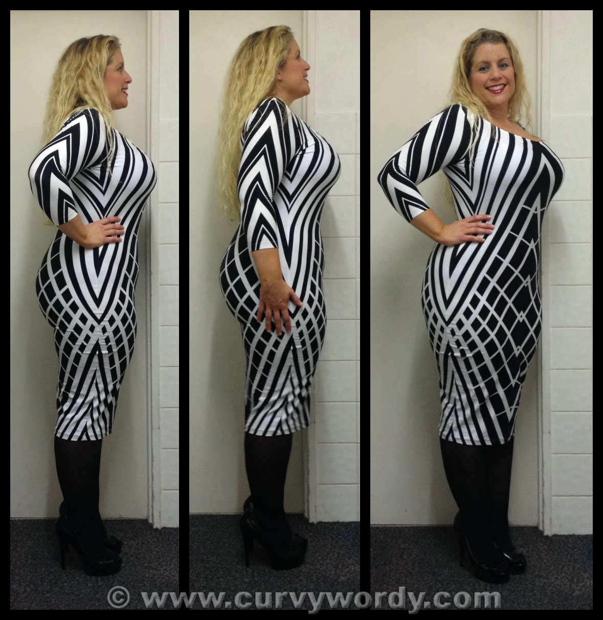 Curvy Wordy: ASOS CURVE Exclusive Bodycon Dress In Graphic Print ...