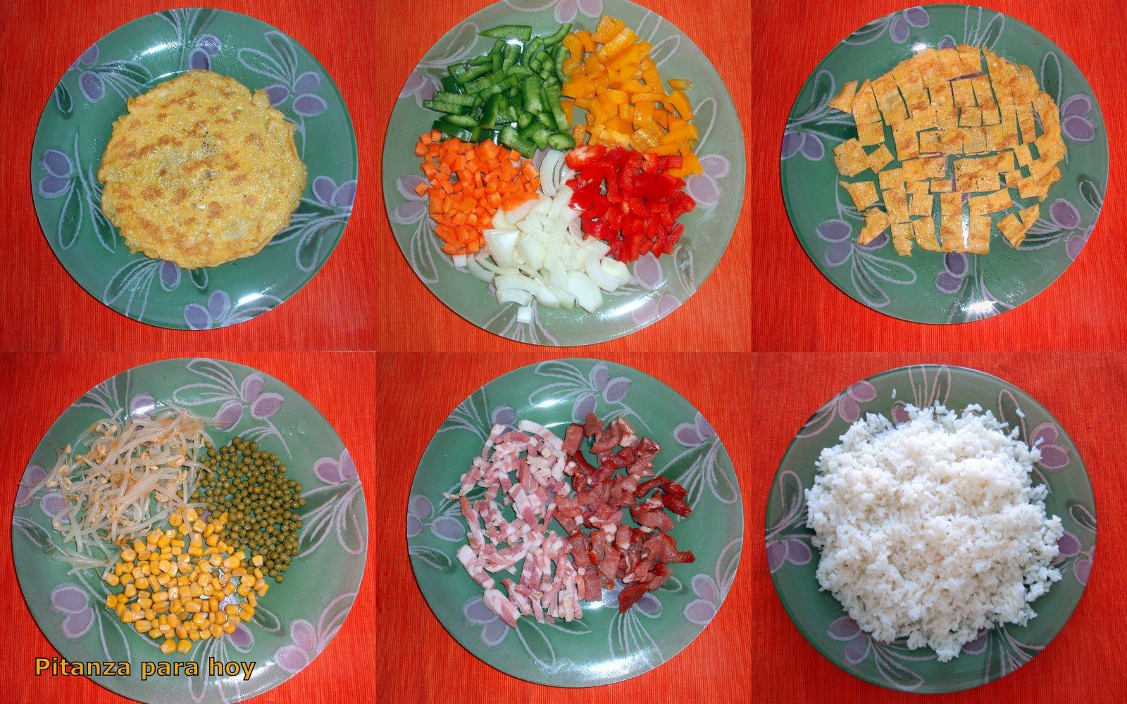 Pitanza para hoy arroz frito al estilo chino - Como hacer pimientos verdes fritos ...