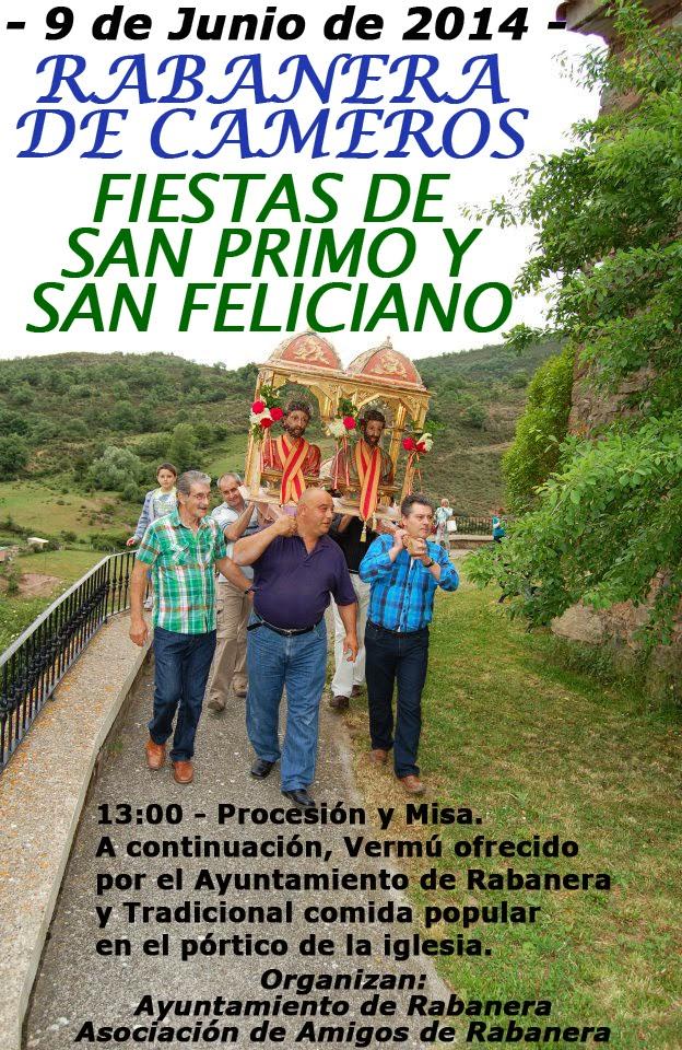 9 de junio: San Primo y San Feliciano en Rabanera de Cameros.