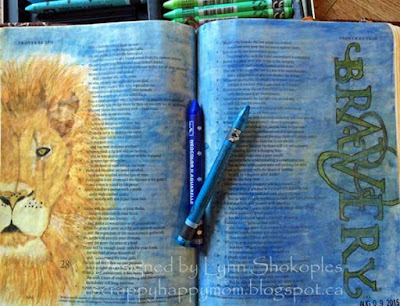Proverbs 28:1 Bible Journal Page by Lynn Shokoples