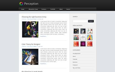 Perception Blogger Template