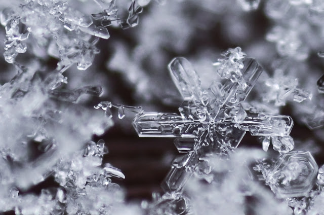 Kristall Macro schnee