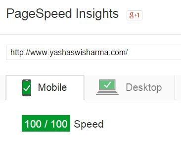 yashaswi sharma pagespeed