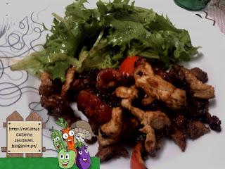Carne com Pimento no Wok