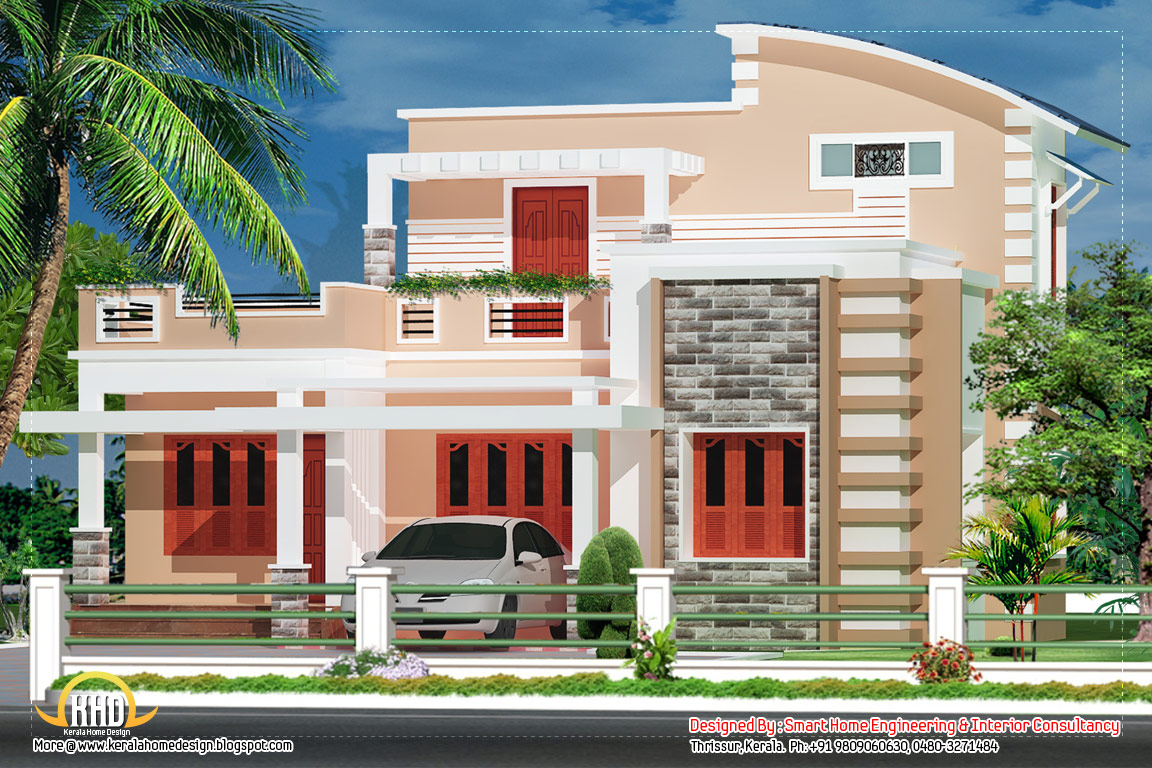 4 bedroom villa 1550 sq ft kerala home design and On 4 bedroom villa plans