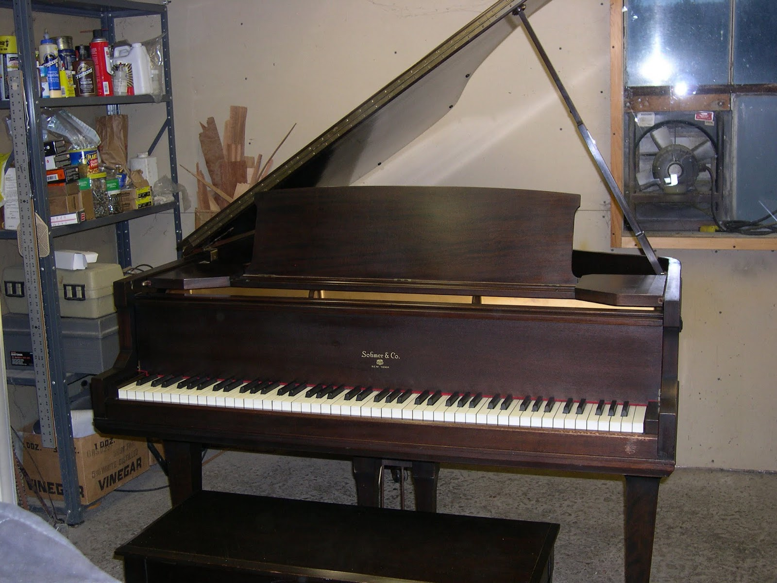 Cindy's Piano Studio: Sohmer & Co. Baby Grand for sale