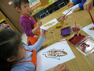 Thanksgiving art activity indian corn
