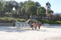 Barefoot Bay, beach, sand play, Walt Disney World, Orlando, Florida, family vacation