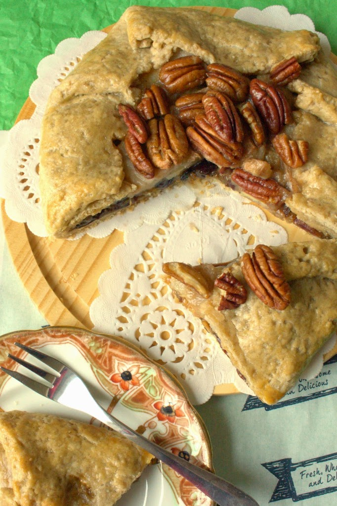 Pecan, Pear and Mincemeat Galette - the ideal alternative to mince pies this year. A very boozy Christmas recipe.