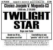 Todo A Ganador - 28/5 - La Plata - Clásico Joaquín V. Maqueda-G3 - El brillo de TWILIGHT STAR