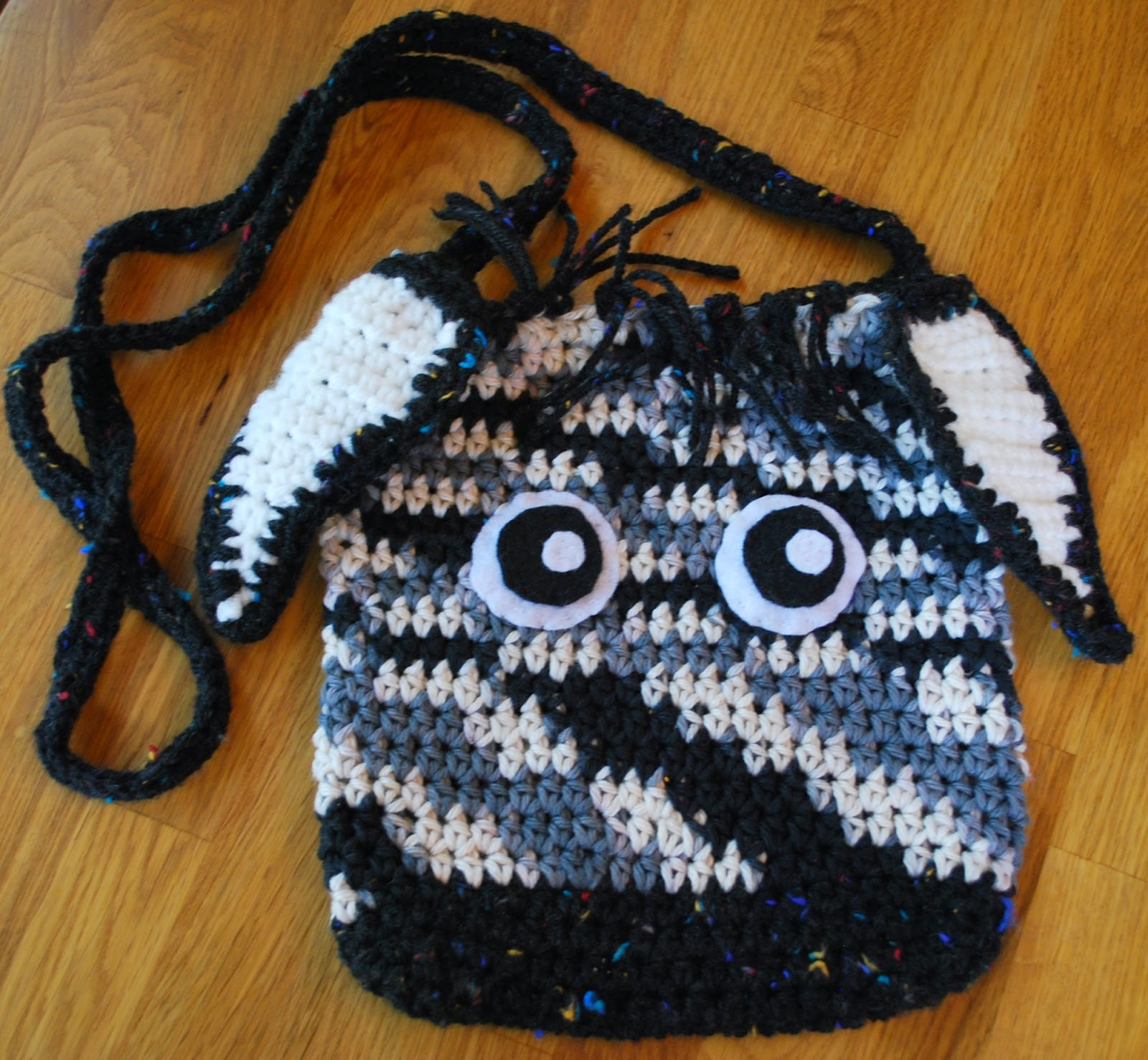 Crochet Zebra Bag