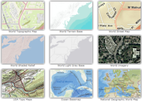 ESRI ArcGIS Online Base Maps