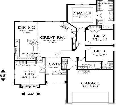 Planos casas modernas planos de casas de una planta con 4 dormitorios - Planos de casas de una planta 4 dormitorios ...