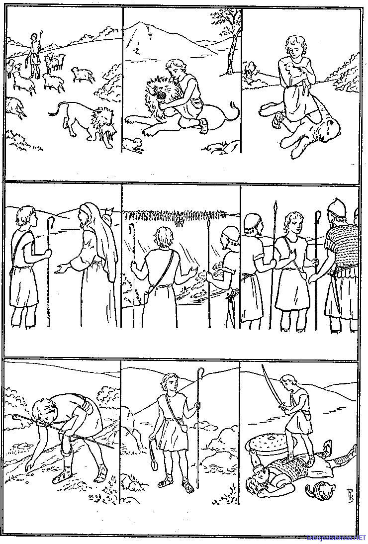 Dibujos De La Historia De David Para Colorear