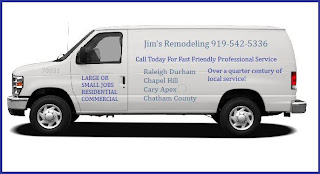 Call Jim 919-542-5336 Remodeling Contractors providing service in Cary, NC.