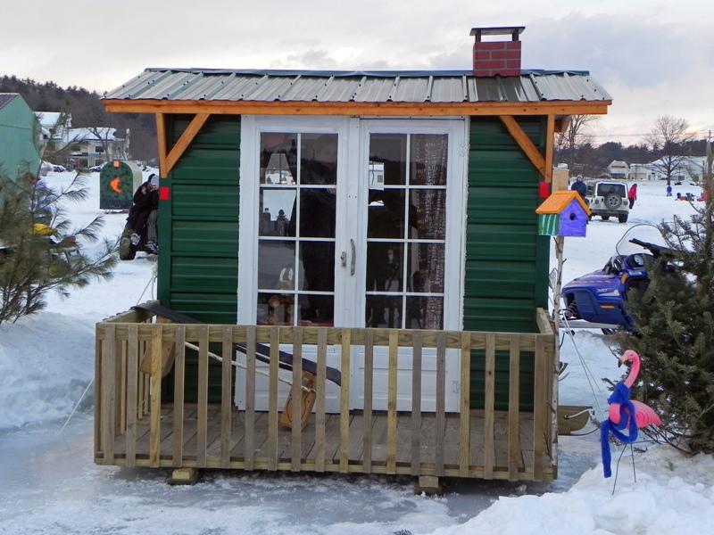 Ice fishing shack hut shanty mania for Ice fishing shanty plans