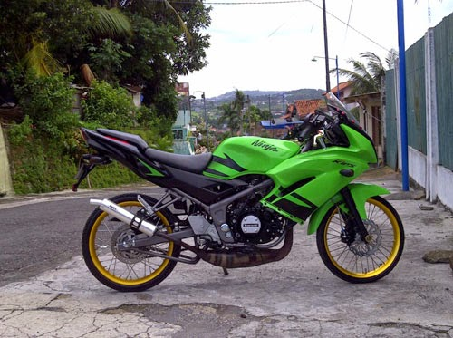 Image result for modifikasi ninja 150 rr super kips