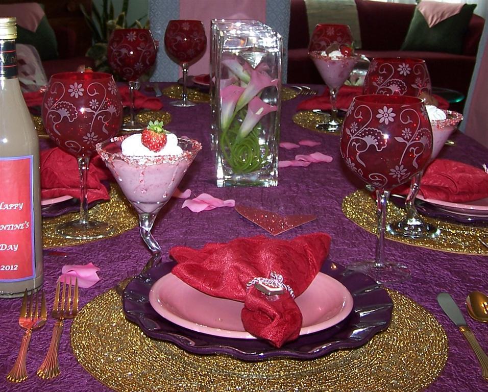 valentine tablescape 2012