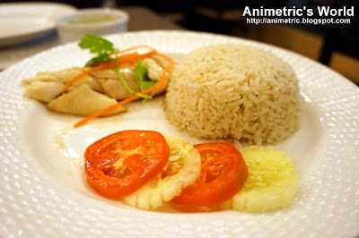 Hainanese Steamed Chicken Rice at Oliva Bistro Cafe
