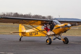 Santa Claus flies into Solberg Airport in Readington Twp., New Jersey