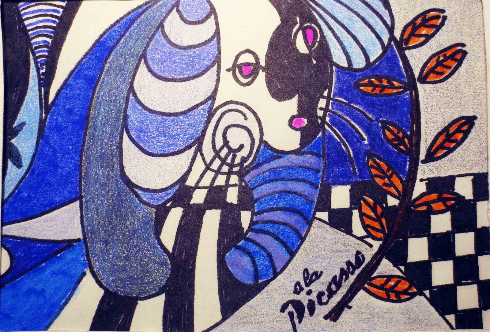 Lupin a la Picasso
