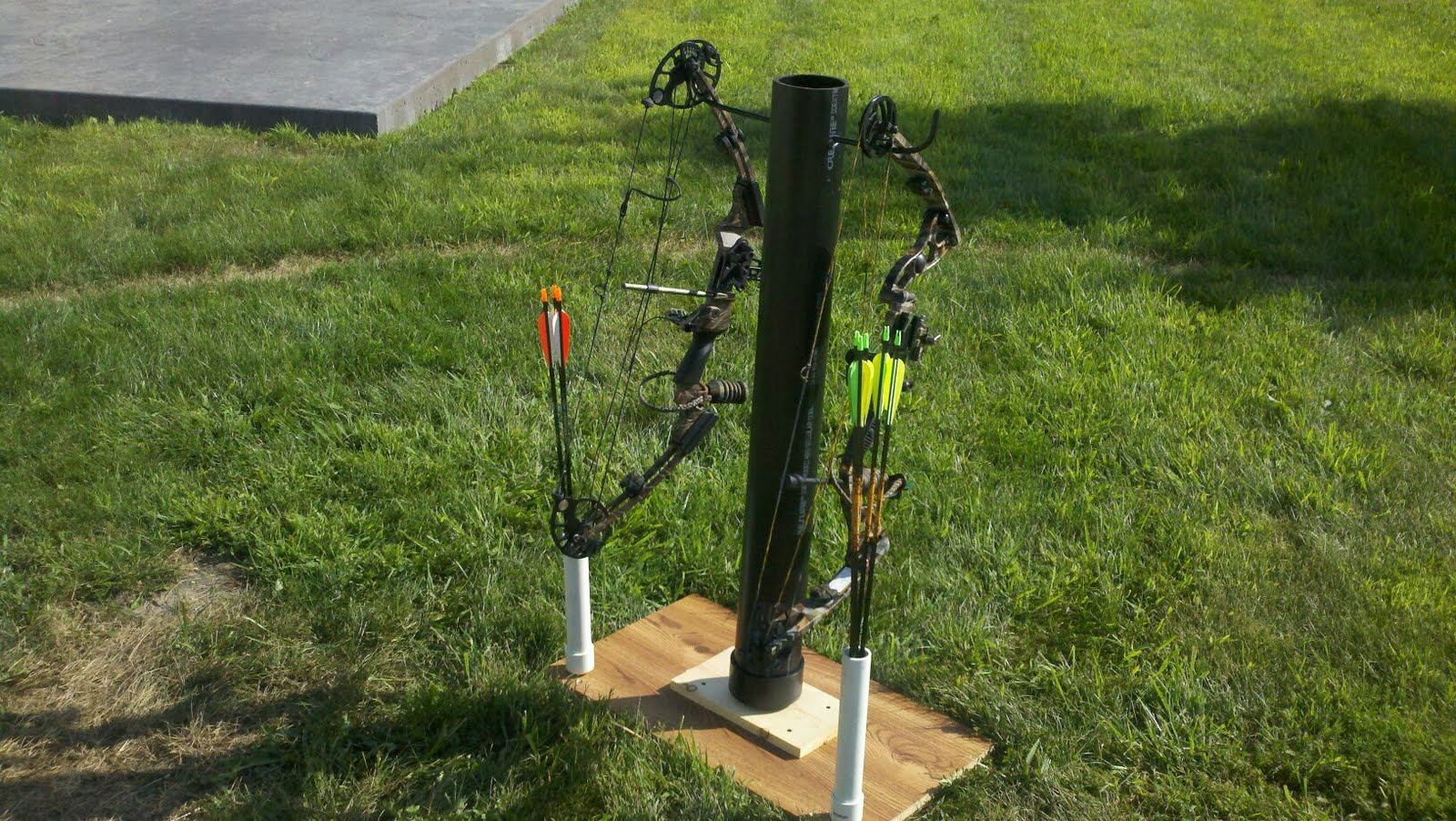 how to build a bow target stand