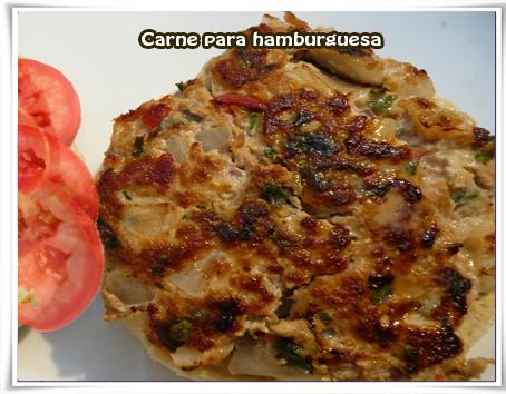 Recetas de carnes, hamburguesas