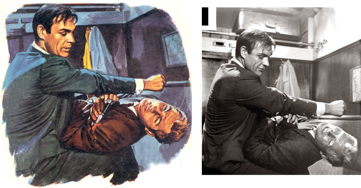 James Bond Book Cover Art : Illustrated the art of james bond book