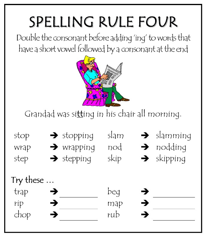 Worksheets Double Final Consonants | Free Printable Math Worksheets ...