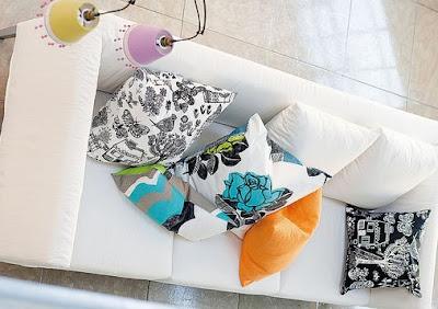 decoración con cojines
