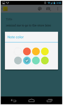 Google Keep note color