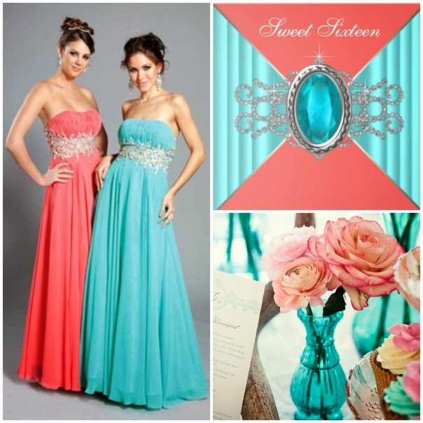 Sweet 15 Dresses Aqua pictures