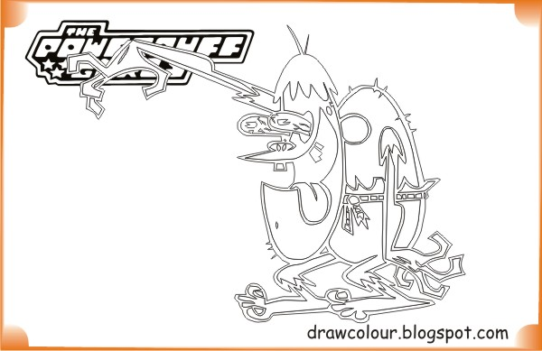 printable-the_powerpuff_girls-ganggreen_gang-coloring-pages