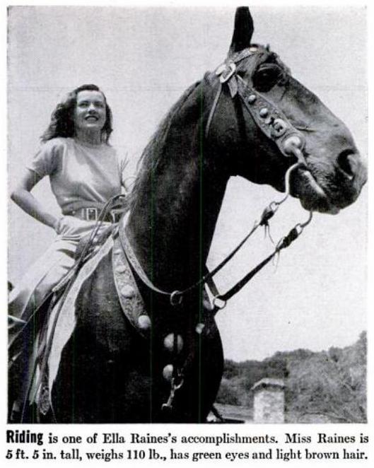 Ella Raines Films: A look at Ella Raines in LIFE magazine (1944)