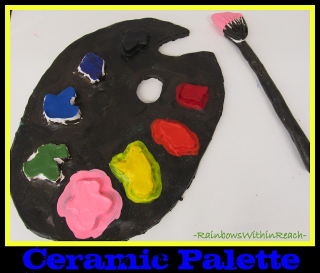 photo of: Art Room Ceramic Palette (Art Room RoundUP via RainbowsWithinReach)
