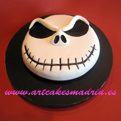 Pesadilla antes de Navidad con esta tarta de Jack Skeleton