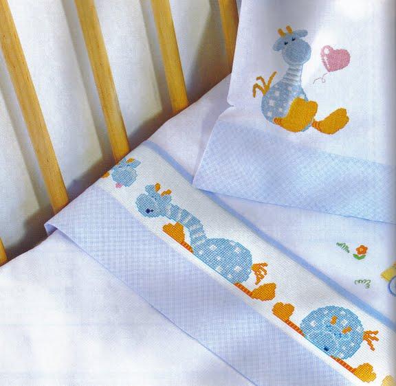 Graficos punto de cruz canastilla bebé - Imagui