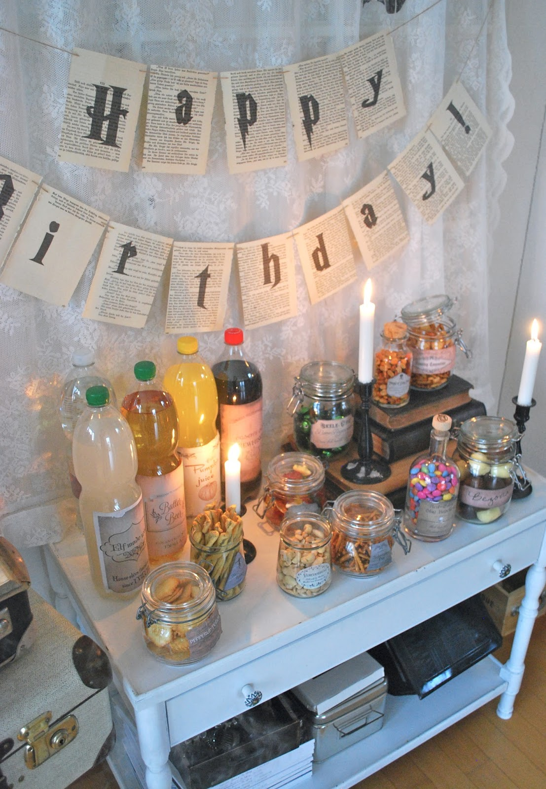 mamas kram potter party. Black Bedroom Furniture Sets. Home Design Ideas