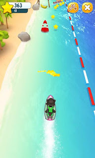 Screenshots of the  Talking Tom jetskifor Android tablet, phone.