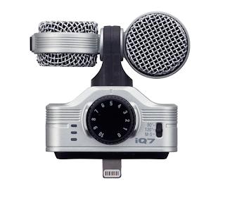 Mikrofon Zoom iQ7 ze złączem lightning adresowany do urządzeń Apple'a. Zdjęcie producenta.