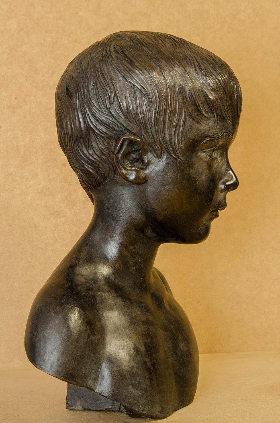 Retrato escultura barro cocido 6