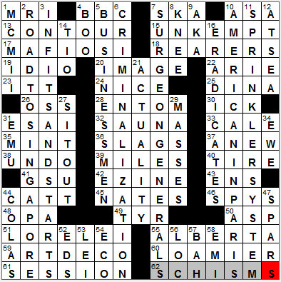 WEB's New York Times Crossword Solution @ NYTCrossword.com: 1111-11 ...