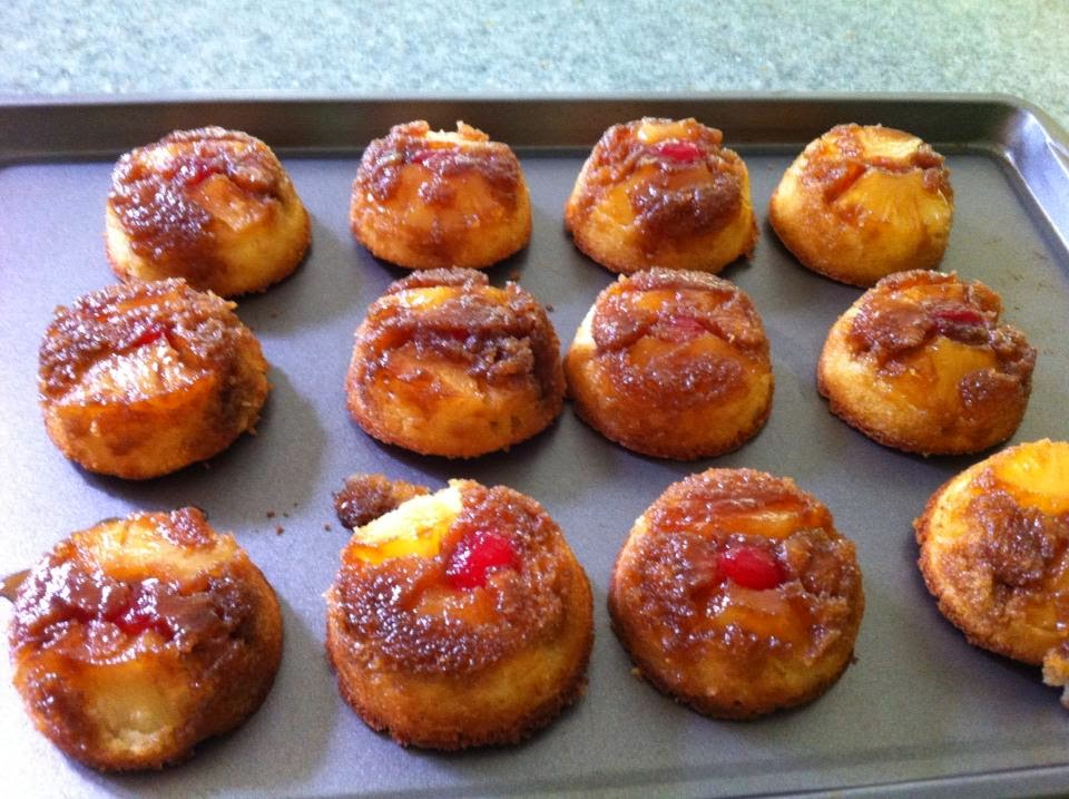miniature pineapple upside down cakes